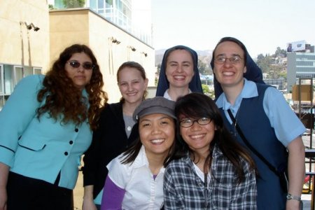 Sr. Meg with young women in discernment from California & Canada